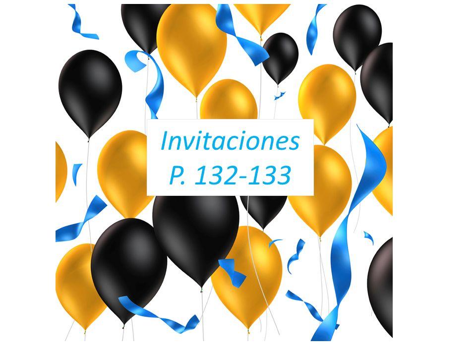 Invitaciones P. 132-133