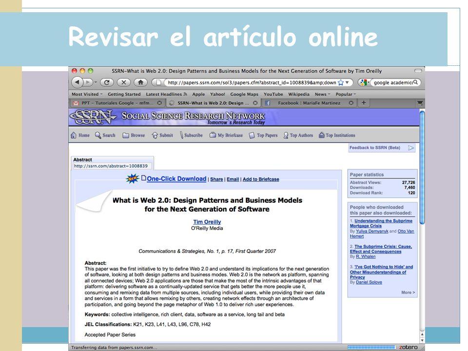 Revisar el artículo online