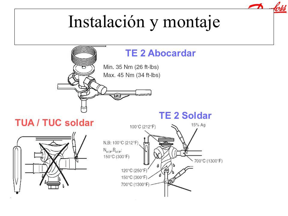 Instalación y montaje TE 2 Abocardar TUA / TUC soldar TE 2 Soldar