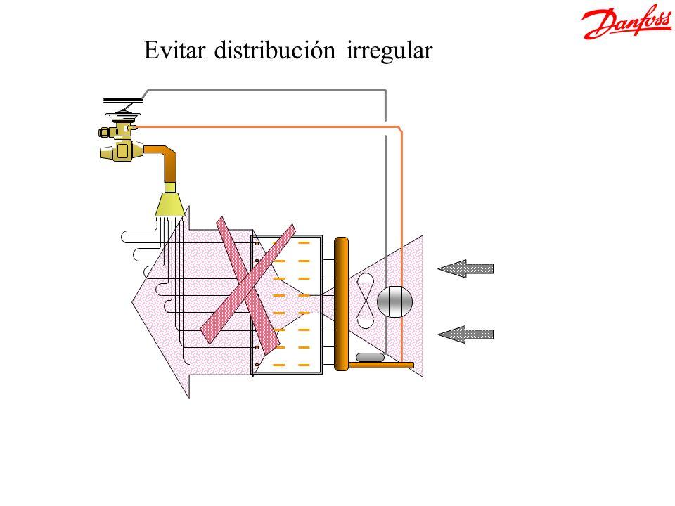 Evitar distribución irregular