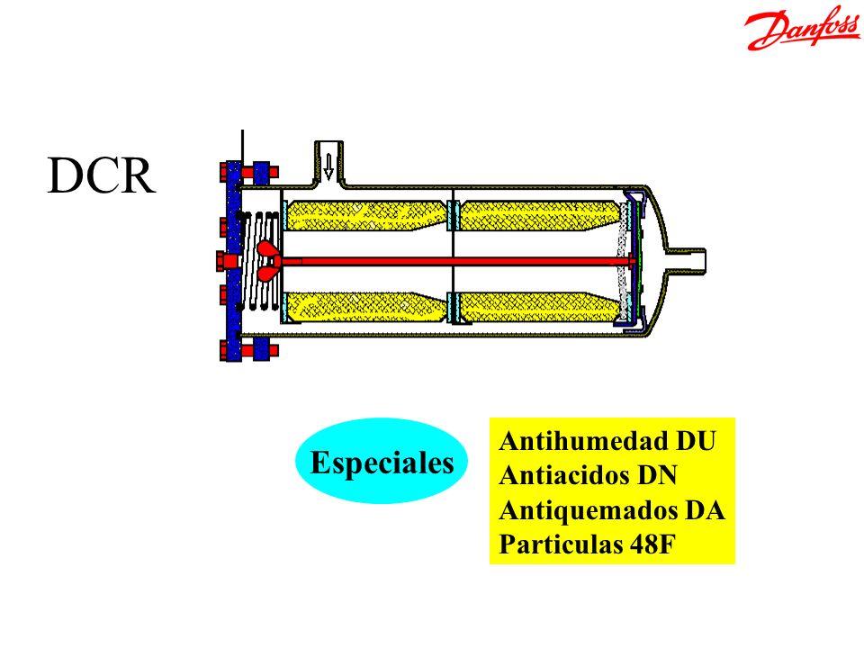 Antihumedad DU Antiacidos DN Antiquemados DA Particulas 48F Especiales DCR