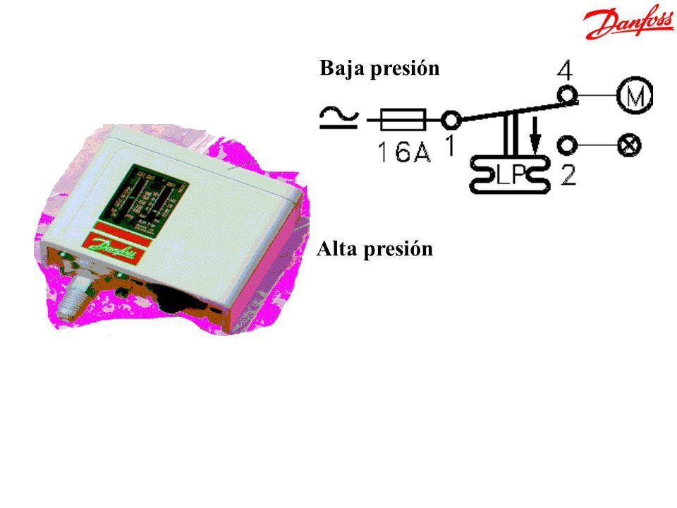 Baja presión Alta presión