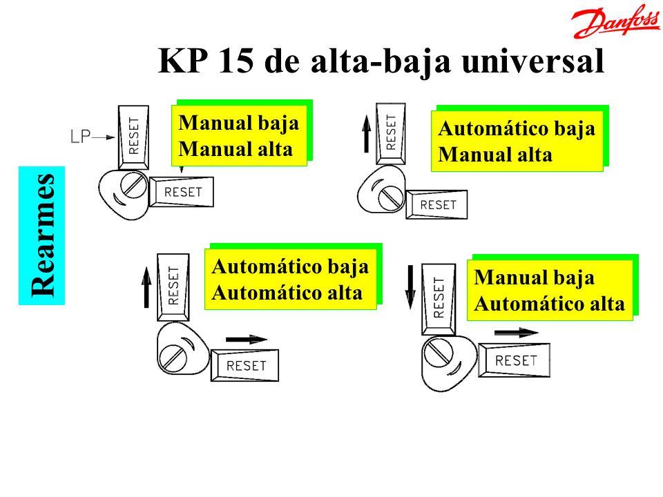 KP 15 de alta-baja universal Rearmes Manual baja Manual alta Manual baja Manual alta Automático baja Manual alta Automático baja Manual alta Automátic