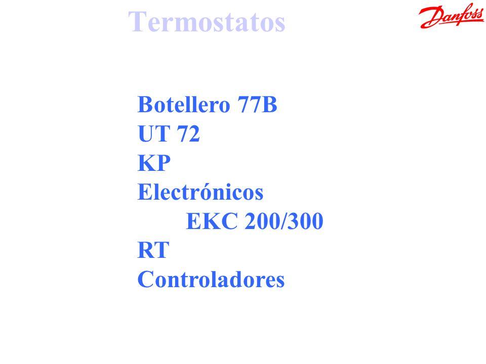 Termostatos Botellero 77B UT 72 KP Electrónicos EKC 200/300 RT Controladores