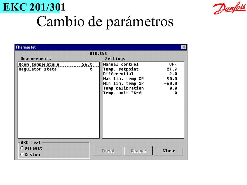 Cambio de parámetros EKC 201/301