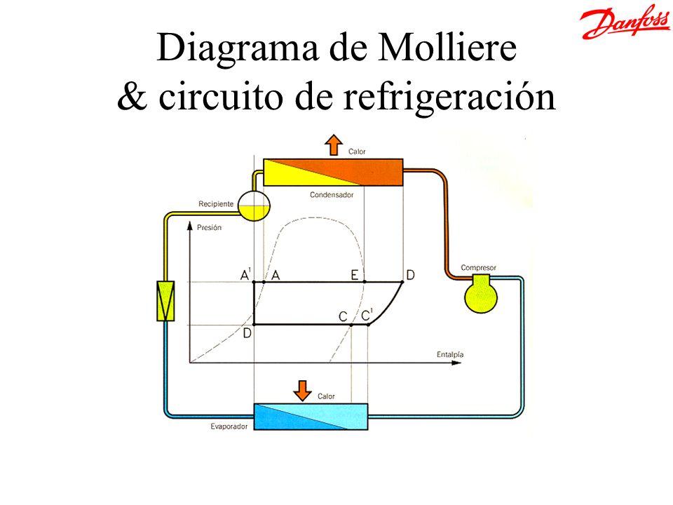 Modo AA (Refrigeración) Batería interior Batería exterior NRV SGN DB TE/TDE TDE Válvula 4 vías (EVRV) Planta de AA reversible (Bomba de calor)
