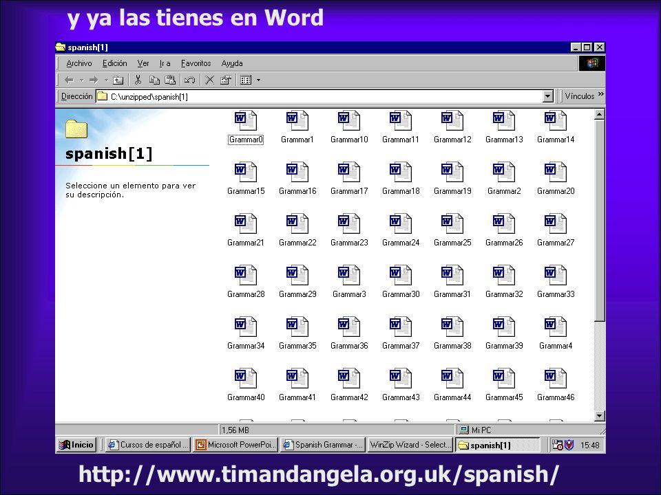 http://www.timandangela.org.uk/spanish/ y ya las tienes en Word