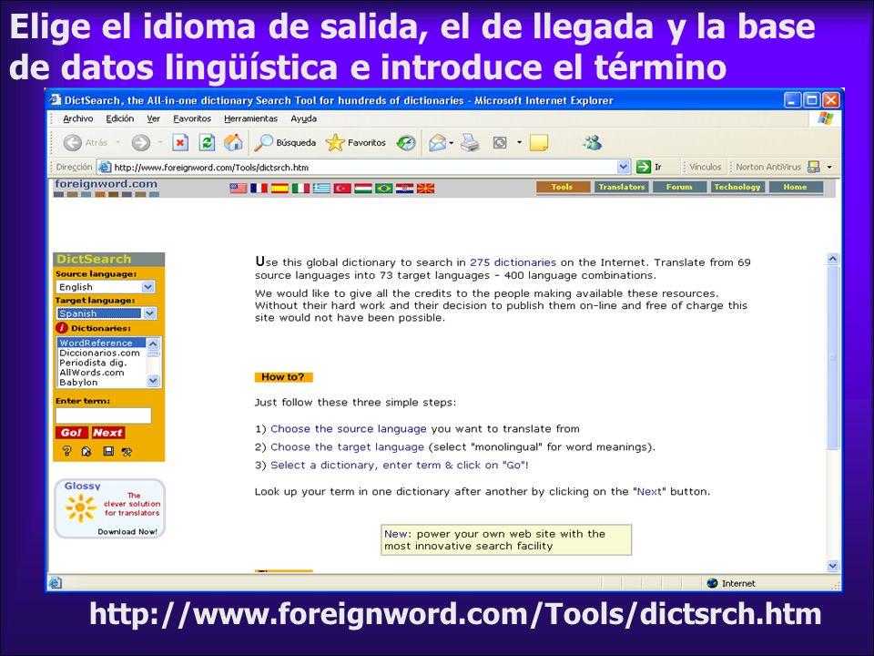 http://www.onelook.com Buscamos herramienta en 800 diccionarios