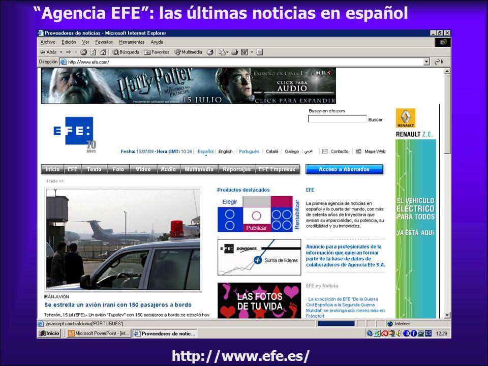 http://www.efe.es/ Agencia EFE: las últimas noticias en español