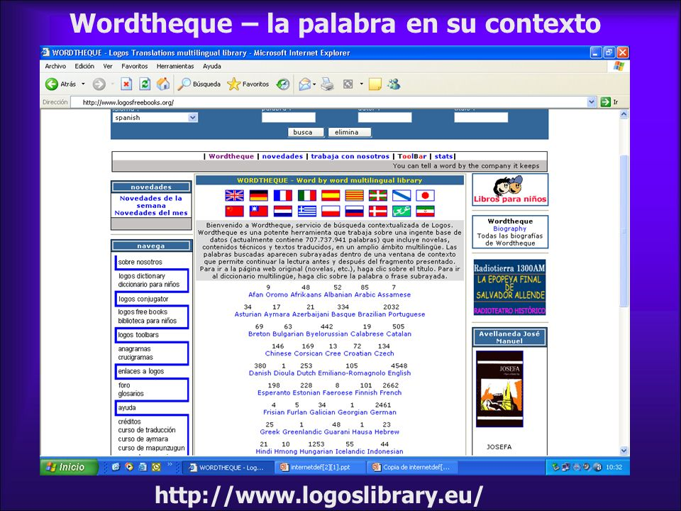 herramienta–1 de casi 700.000.000 de registros http://www.logosfreebooks.org