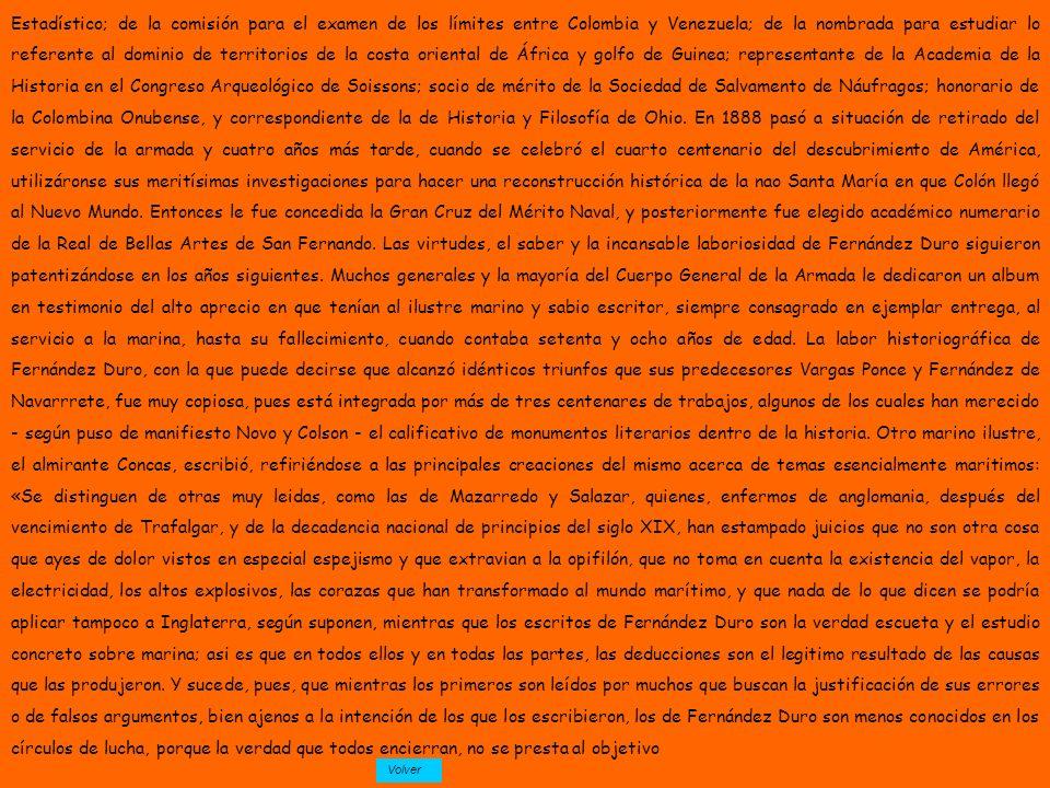 Estadístico; de la comisión para el examen de los límites entre Colombia y Venezuela; de la nombrada para estudiar lo referente al dominio de territor