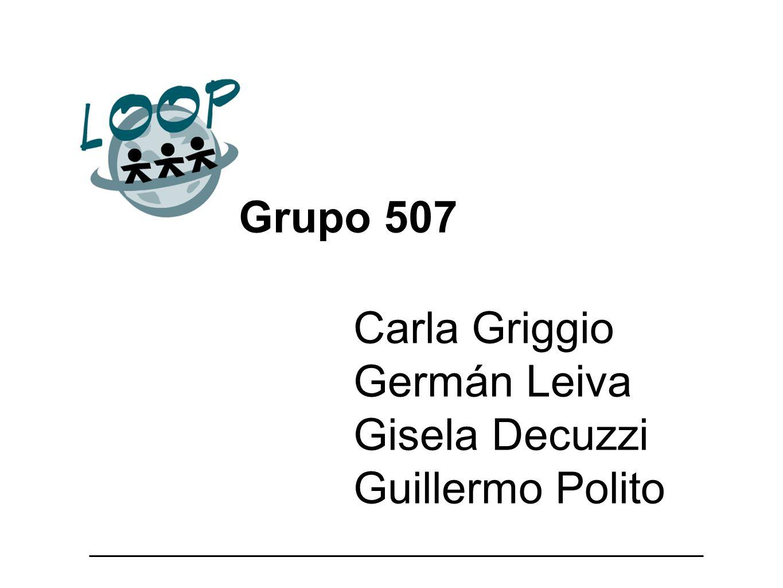 Carla Griggio Germán Leiva Gisela Decuzzi Guillermo Polito Grupo 507