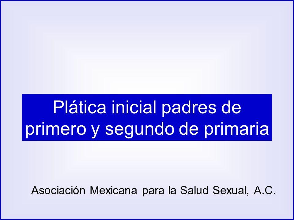 Plática inicial padres de primero y segundo de primaria Asociación Mexicana para la Salud Sexual, A.C.