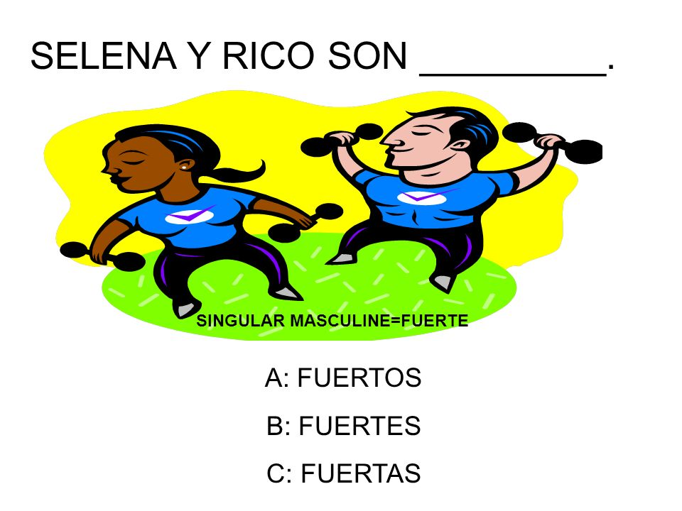 LA CLASE DE ESPAÑOL ES DIVERTIDA. SPANISH CLASS IS FUN. THE ANSWER IS: B.DIVERTIDA