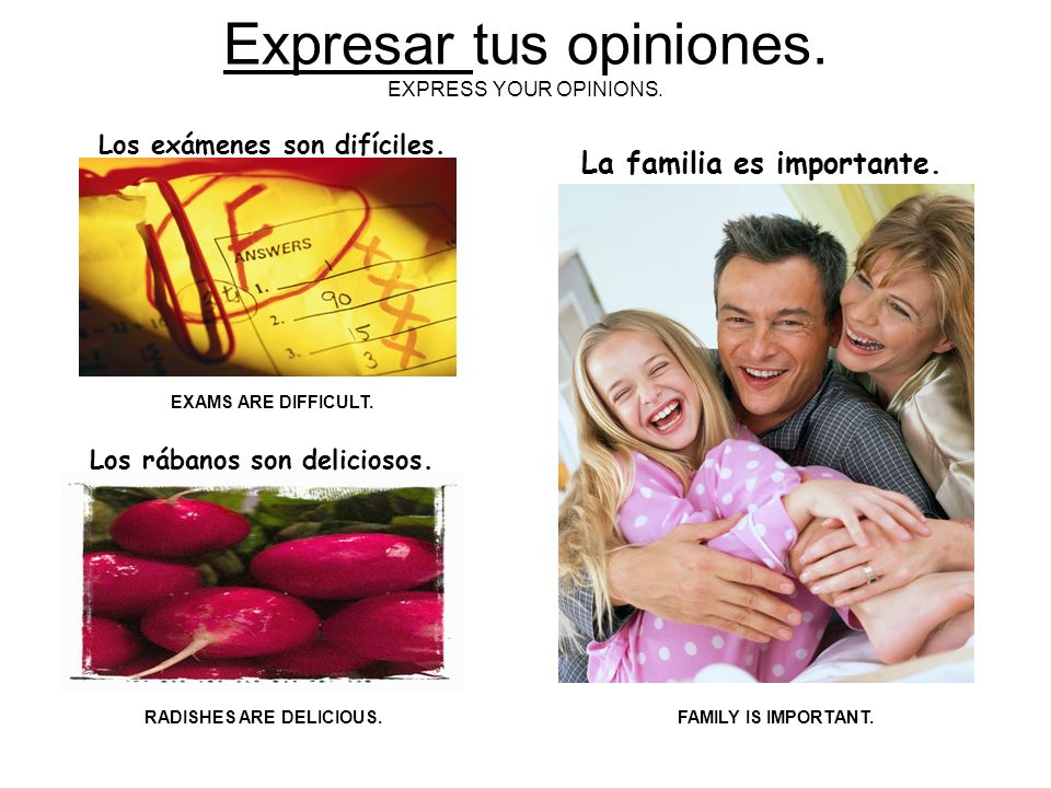 ¡LOS ADJECTIVOS SON… MUY IMPORTANTES! ADJECTIVES ARE VERY IMPORTANT… PORQUE TE AYUDAN… BECAUSE THEY HELP YOU …