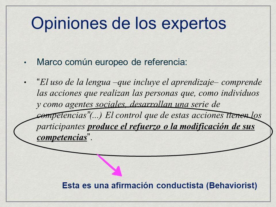Marco común europeo de referencia: El uso de la lengua –que incluye el aprendizaje– comprende las acciones que realizan las personas que, como individ