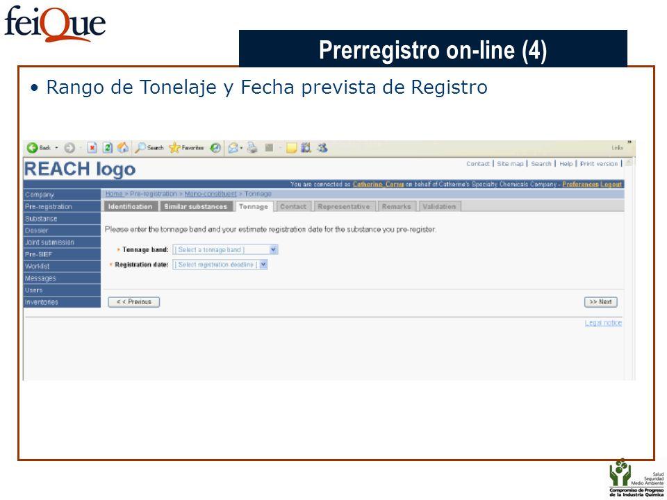 CHAPTER 3 Rango de Tonelaje y Fecha prevista de Registro Prerregistro on-line (4)