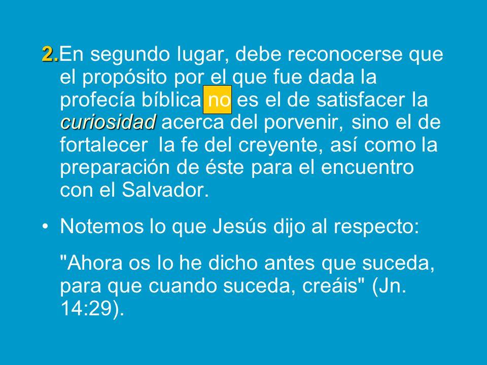 Por lo tanto, y de manera congruente, la naturaleza espiritual o literal de estos cumplimientos dependerá de la pre- sencia física o espiritual de Cristo.