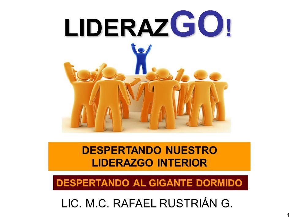 1 DESPERTANDO NUESTRO LIDERAZGO INTERIOR DESPERTANDO AL GIGANTE DORMIDO LIC. M.C. RAFAEL RUSTRIÁN G. LIDERAZ GO !