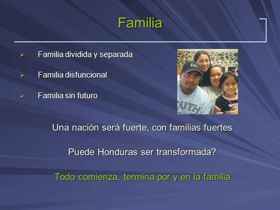 Familia Familia dividida y separada Familia dividida y separada Familia disfuncional Familia disfuncional Familia sin futuro Familia sin futuro Una na