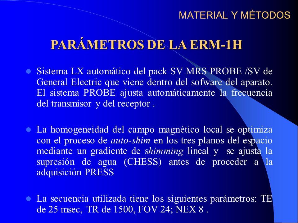 Sistema LX automático del pack SV MRS PROBE /SV de General Electric que viene dentro del sofware del aparato. El sistema PROBE ajusta automáticamente