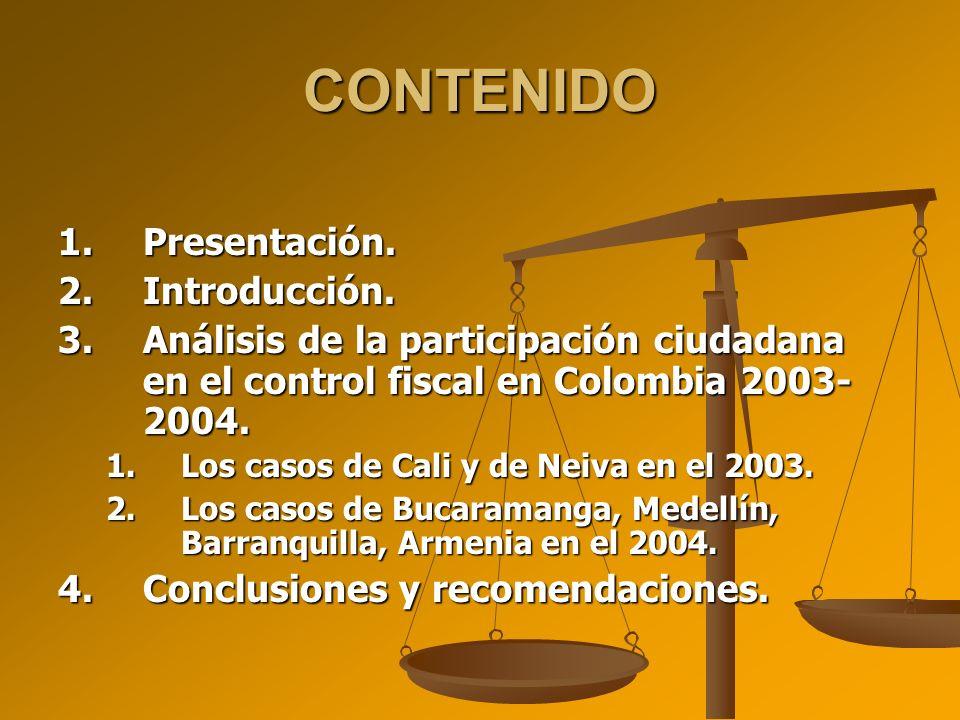 CONTENIDO 1.Presentación.2.Introducción.
