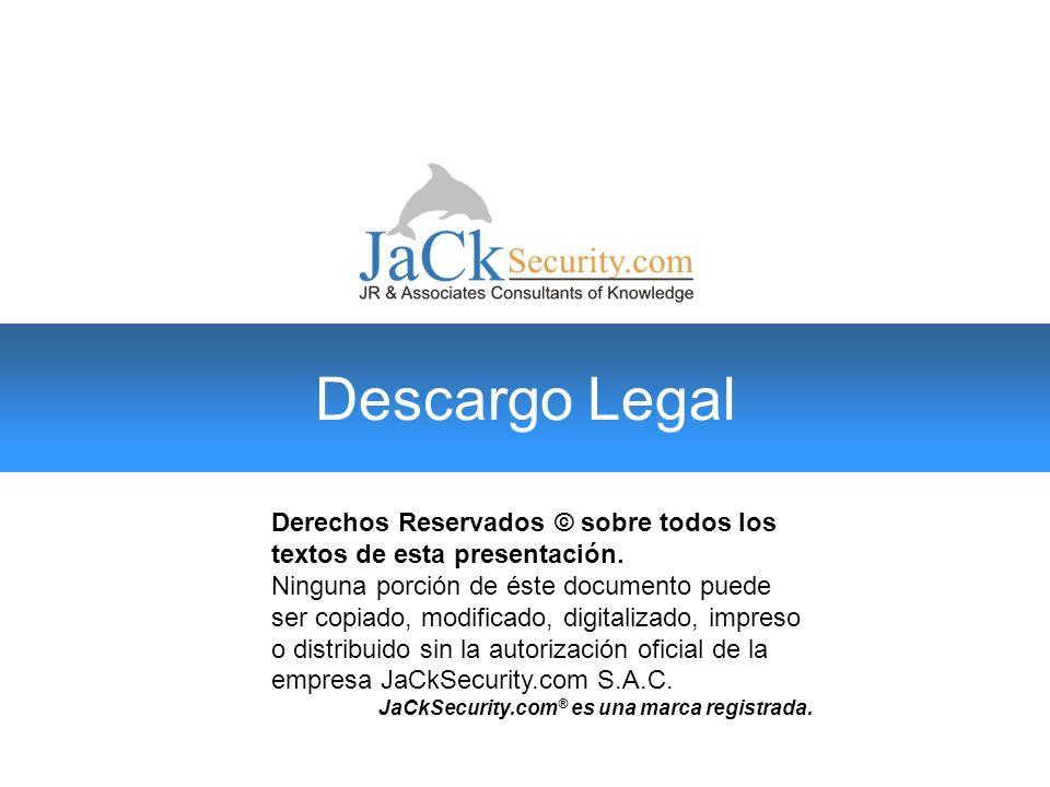 Derechos Reservados © sobre todos los textos de esta presentación. Ninguna porción de éste documento puede ser copiado, modificado, digitalizado, impr