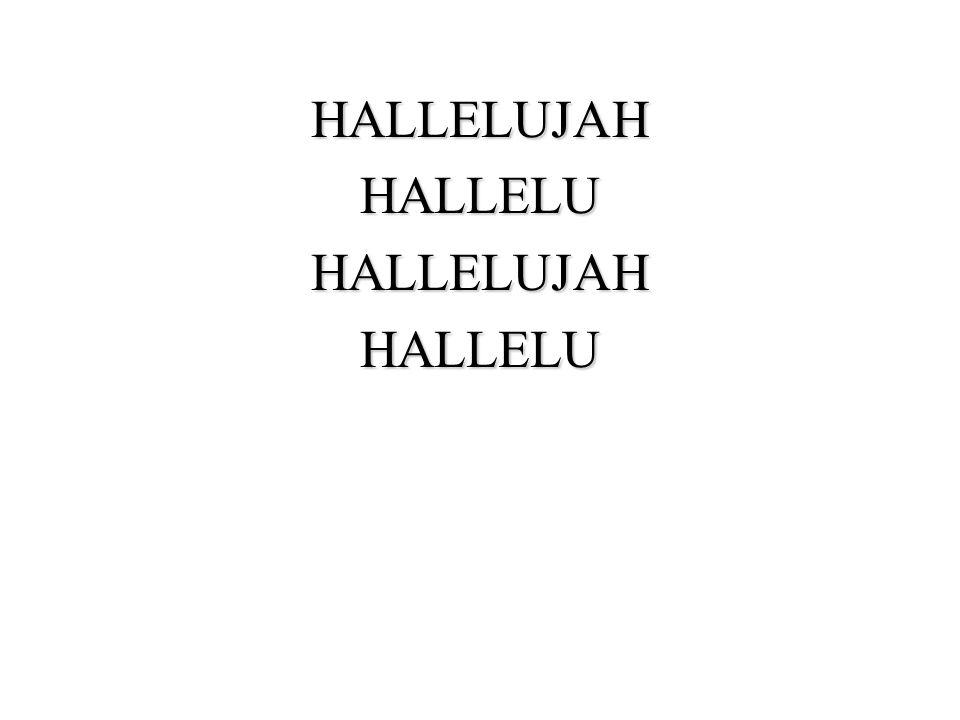 HALLELUJAHHALLELUHALLELUJAHHALLELU