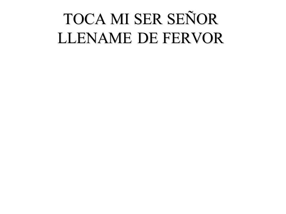TOCA MI SER SEÑOR LLENAME DE FERVOR