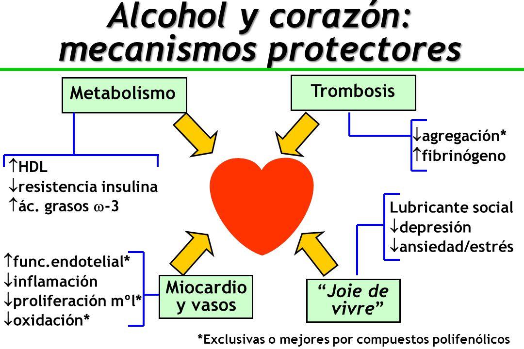 Metabolismo Miocardio y vasos Trombosis Joie de vivre HDL resistencia insulina ác.