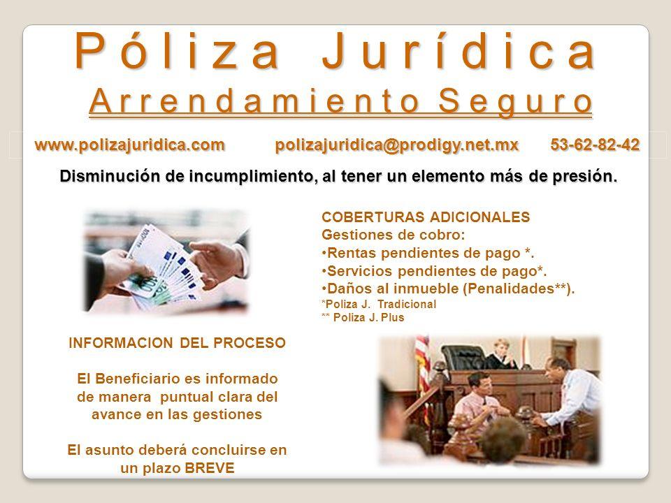www.polizajuridica.com polizajuridica@prodigy.net.mx 53-62-82-42 P ó l i z a J u r í d i c a A r r e n d a m i e n t o S e g u r o $$$$$ $$$$$ Para In