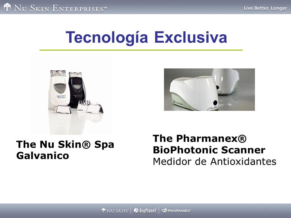 Tecnología Exclusiva The Pharmanex® BioPhotonic Scanner Medidor de Antioxidantes The Nu Skin® Spa Galvanico