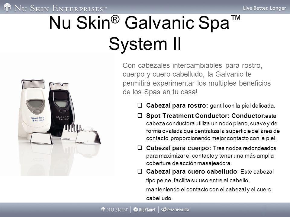 Nu Skin ® Galvanic Spa System II Con cabezales intercambiables para rostro, cuerpo y cuero cabelludo, la Galvanic te permitirá experimentar los multip