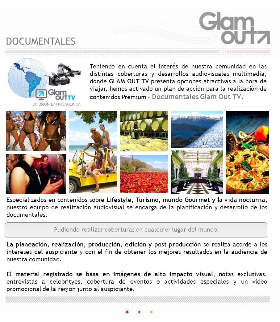 DIFUSIÓN LATINOAMÉRICA Especializados en contenidos sobre Lifestyle, Turismo, mundo Gourmet y la vida nocturna, nuestro equipo de realización audiovis