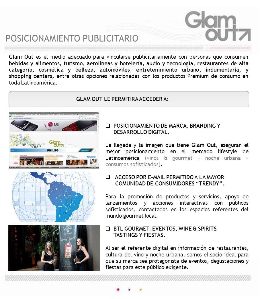 WWW.GLAMOUT.COM NUESTRO MEDIO DIGITAL MARKETING DE CONSUMO PREMIUM FORMATOS DE PAUTA DIGITAL EN NEWSLETTER