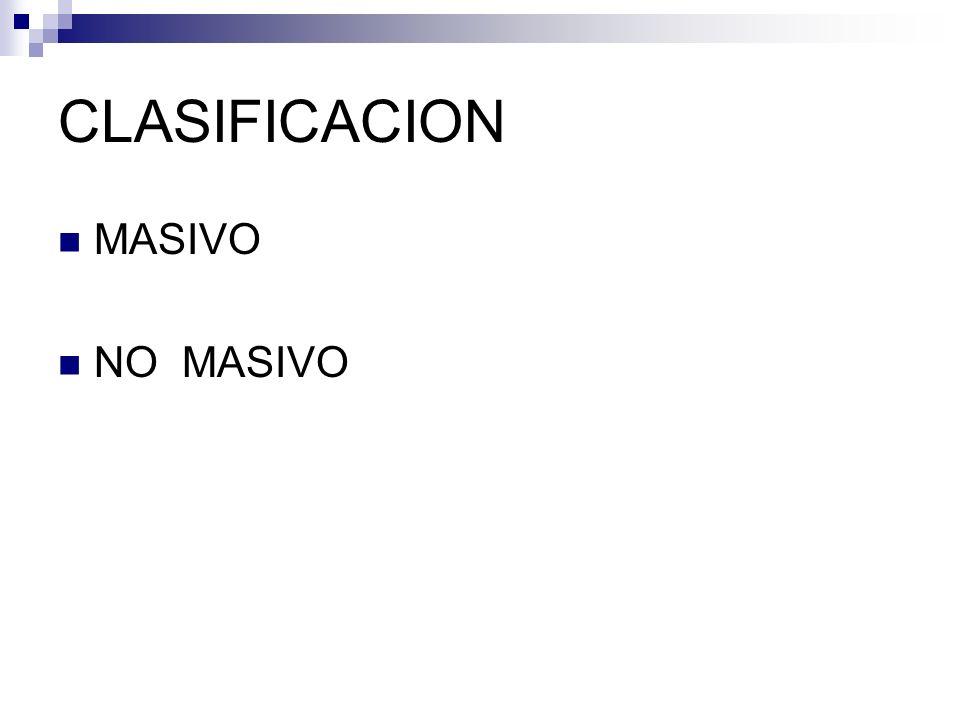 CLASIFICACION MASIVO NO MASIVO