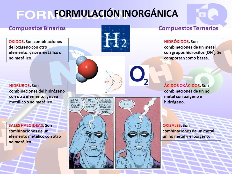 Compuestos Binarios OXIDOS.