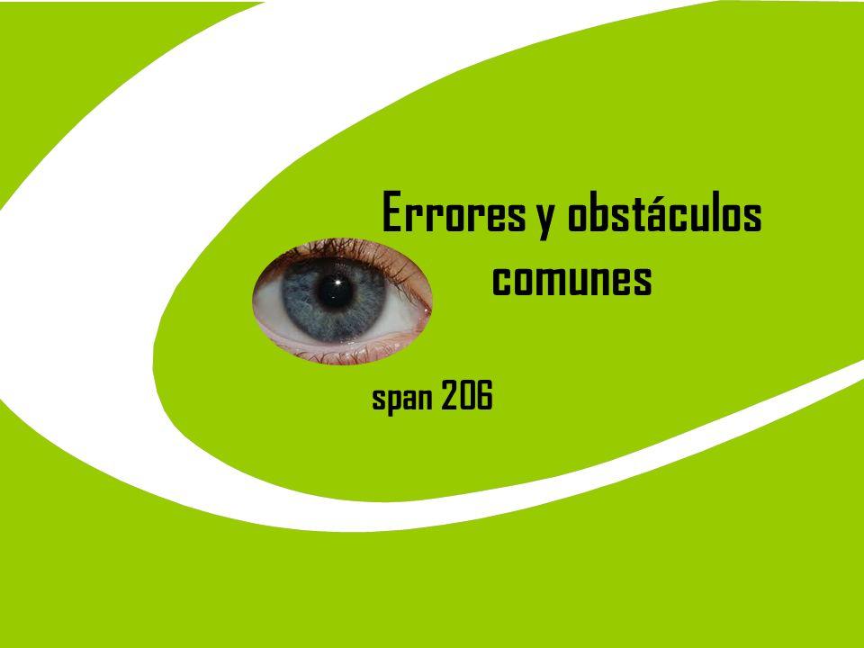 Errores y obstáculos comunes span 206