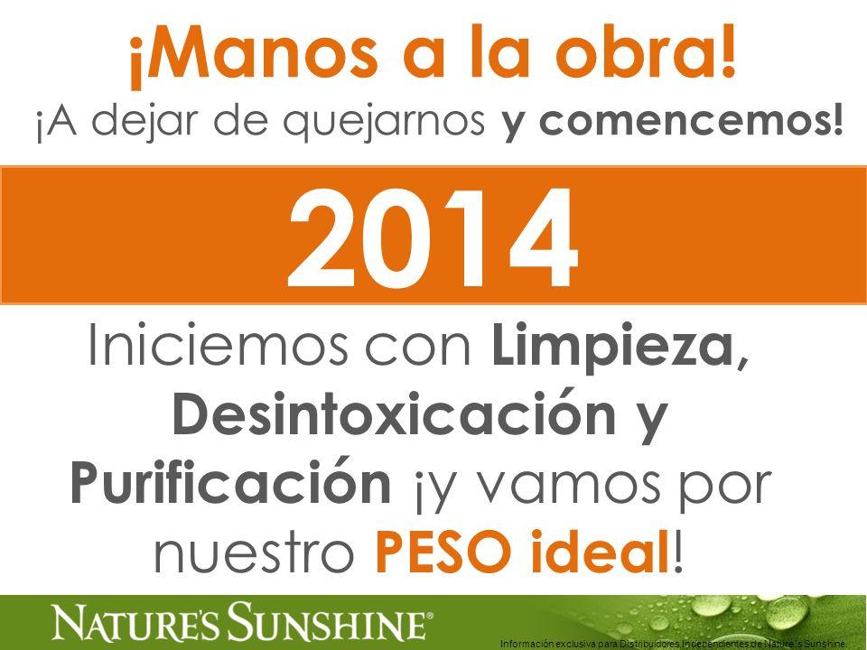 Información exclusiva para Distribuidores Independientes de Nature´s Sunshine.. ¡Manos a la obra! ¡A dejar de quejarnos y comencemos! Iniciemos con Li
