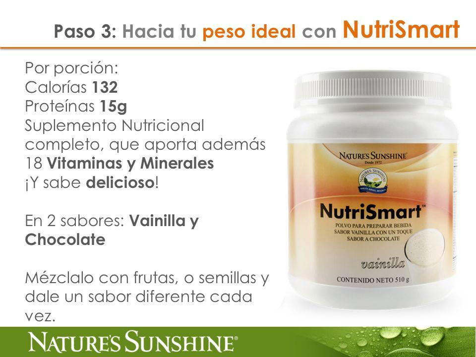 Por porción: Calorías 132 Proteínas 15g Suplemento Nutricional completo, que aporta además 18 Vitaminas y Minerales ¡Y sabe delicioso ! En 2 sabores: