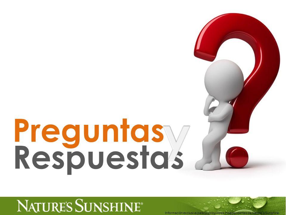 38 Preguntas Respuestas Información exclusiva para Distribuidores Independientes de Nature´s Sunshine..