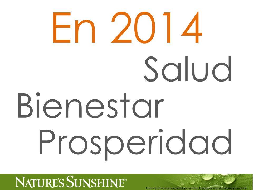 Información exclusiva para Distribuidores Independientes de Nature´s Sunshine..