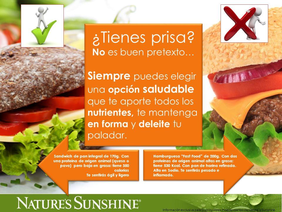 Información exclusiva para Distribuidores Independientes de Nature´s Sunshine.. ¿Tienes prisa? No es buen pretexto… Siempre puedes elegir una opción s