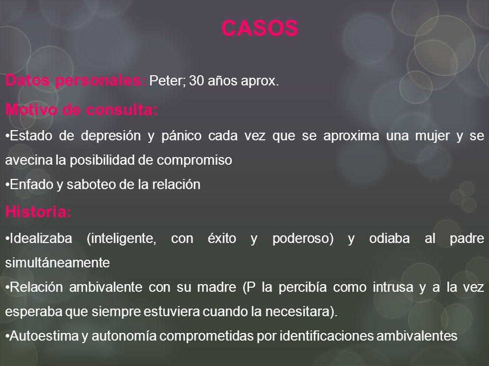 CASOS Datos personales : Peter; 30 años aprox.