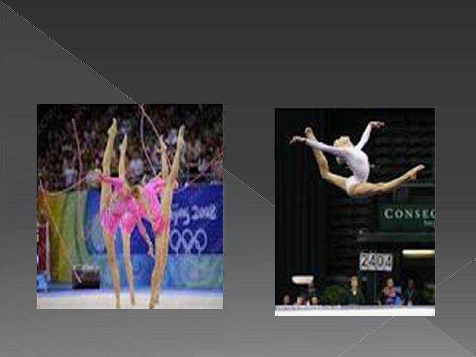 Cuatro de los aparatos de gimnasia artística: barra de equilibrio, barra fija, suelo y barras asimétricas. La gimnasia artística es una modalidad de g
