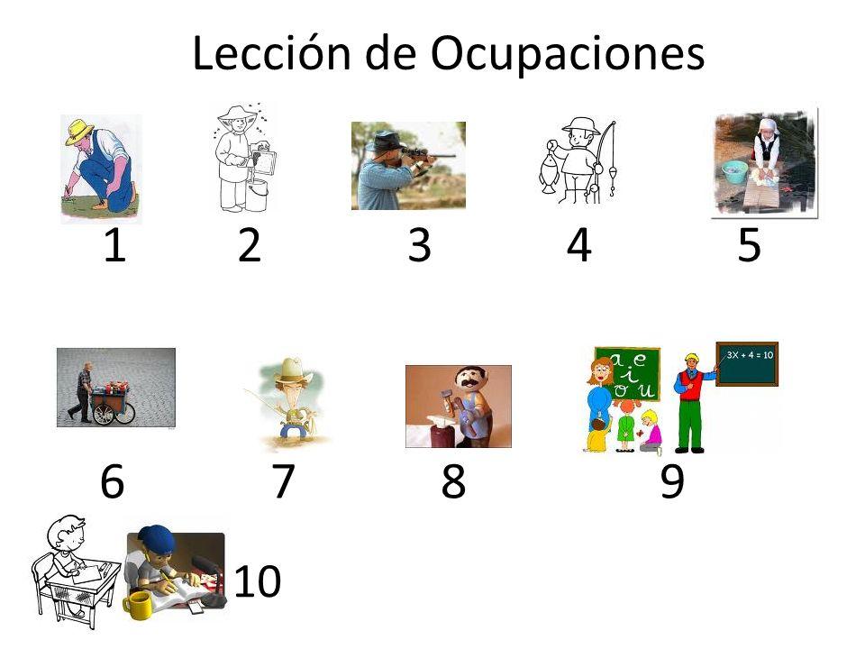 Lección de Ocupaciones 1 2 3 4 5 6 7 8 9 10