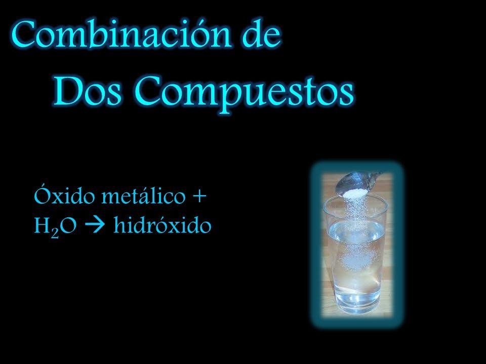 Cloruro de hierro (III) más cloro: FeCl 2 + Cl 2 FeCl 2 Trióxido de difósforo más oxígeno: FeCl 3 + Cl 2 FeCl3 Pentóxido de difósforo más oxígeno: P 2