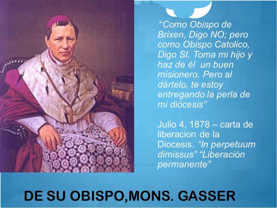Primeros dos SVD Misioneros a China enviados en Marzo 2, 1879 Juan Bautista Anzer