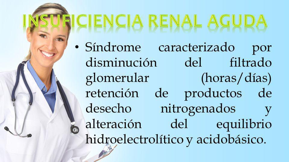 Asintomática Oliguria (< 400) Dx: Urea y Creatinina