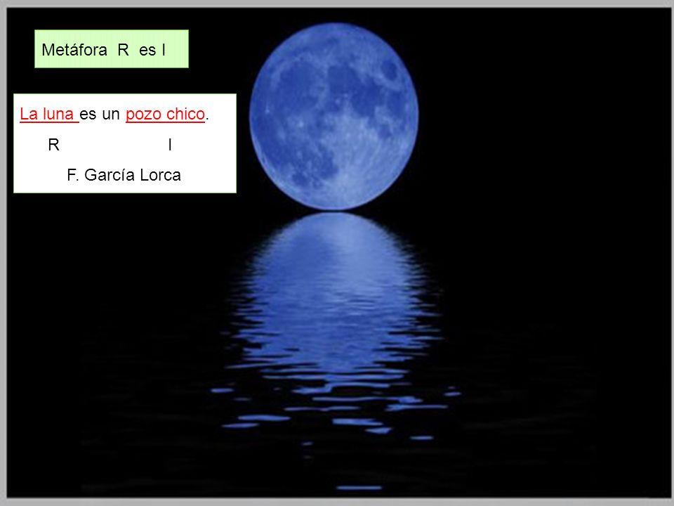 La luna es un pozo chico. R I F. García Lorca Metáfora R es I